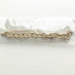 Boho gold Esmeralda circle chain link anklet